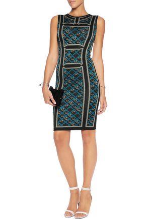 HERVÉ LÉGER Tanya jacquard-knit dress