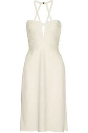 HERVÉ LÉGER Kennedy cutout fluted bandage and cady halterneck dress