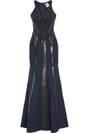 HERVÉ LÉGER Katara sequin-embellished bandage gown