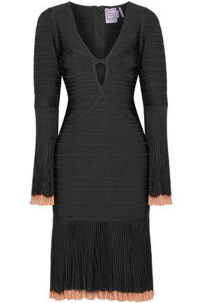 WOMAN RINNAA PANELED BANDAGE DRESS BLACK