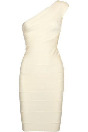 HERVÉ LÉGER BY MAX AZRIA One-shoulder bandage dress