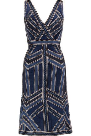 HERVÉ LÉGER Delaney paneled bandage dress