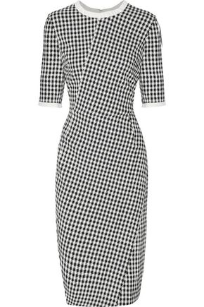 ALTUZARRA Anna houndstooth crepe dress