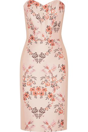 STELLA McCARTNEY Belli brocade-paneled cotton-blend cady dress
