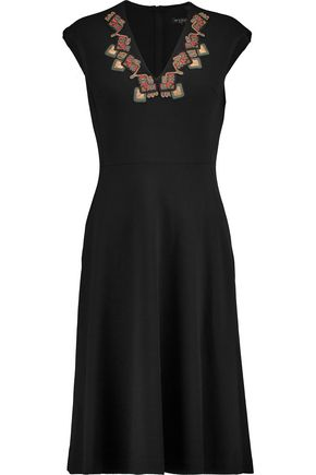 ETRO Embellished wool-blend dress