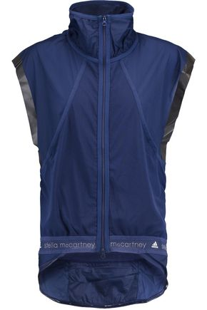 ADIDAS by STELLA McCARTNEY Mesh and shell-paneled vest