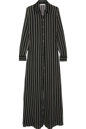 LANVIN Striped silk-chiffon tunic