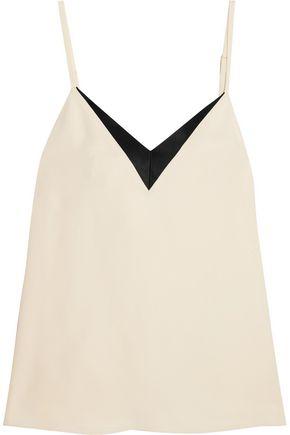 LANVIN Satin-trimmed crepe camisole