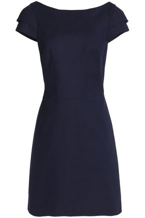 HALSTON HERITAGE Stretch-cotton ponte mini dress