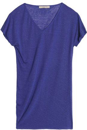 HALSTON HERITAGE Slub linen-blend jersey T-shirt
