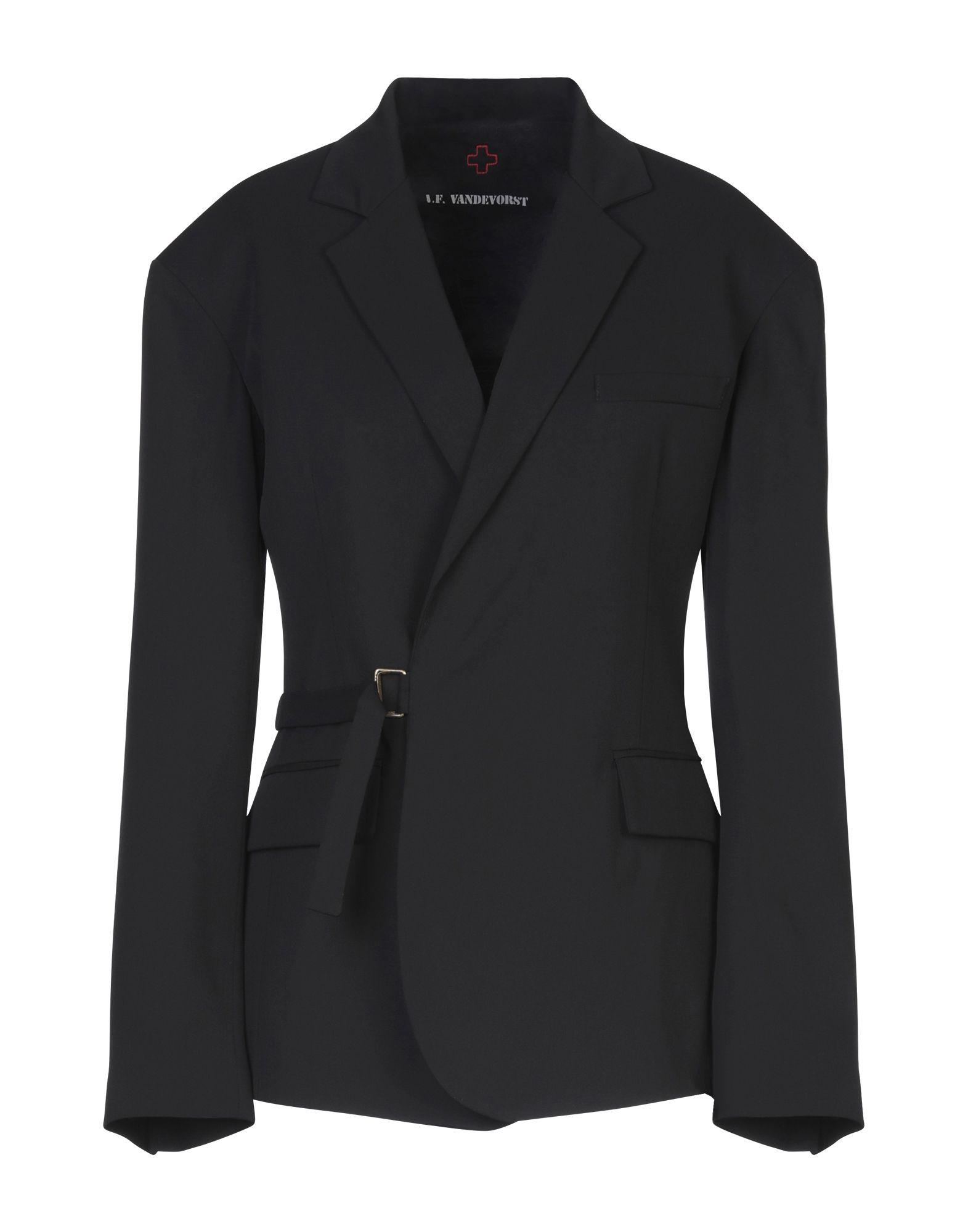 《セール開催中》A.F.VANDEVORST レディース テーラードジャケット ブラック 34 PES - ポリエーテルサルフォン 100%
