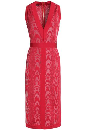 BALMAIN Jacquard midi dress