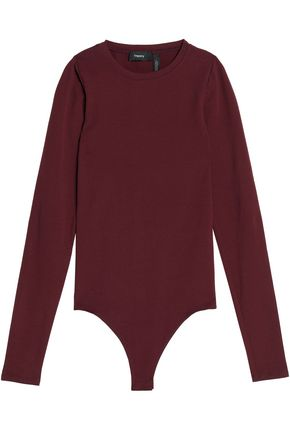 THEORY Stretch-knit bodysuit