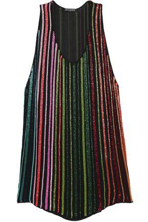 BALMAIN Beaded silk-gauze top