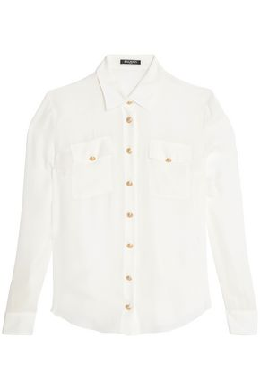 BALMAIN Button-detailed silk shirt