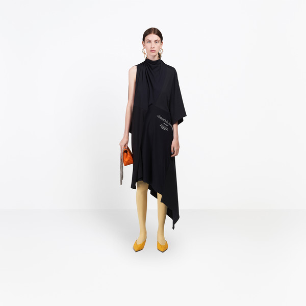 Asymmetrical Projection Dress