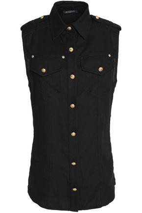 BALMAIN Button-detailed cady shirt