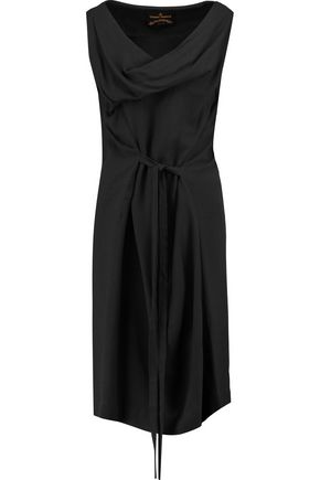 VIVIENNE WESTWOOD ANGLOMANIA Draped tie-front crepe dress