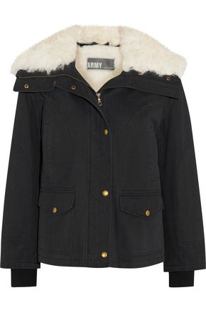 YVES SALOMON Shearling-trimmed twill jacket
