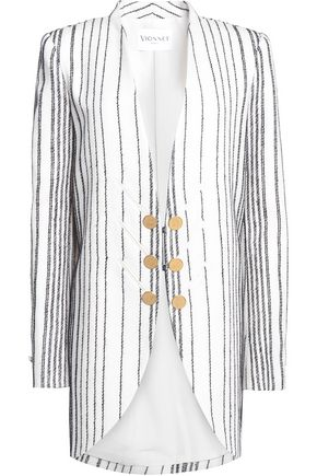 VIONNET Embroidered wool-blend jacket