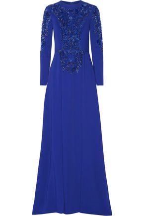 ZUHAIR MURAD Embellished silk-blend gown