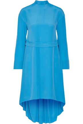 CEDRIC CHARLIER Asymmetric pleated crepe dress