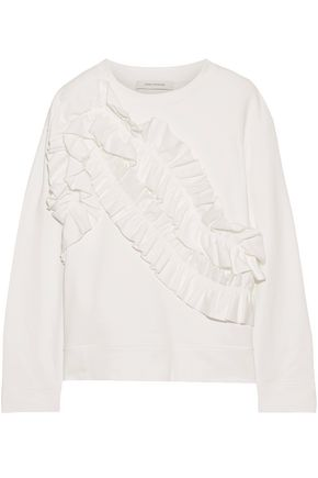 CEDRIC CHARLIER Ruffled cotton sweatshirt