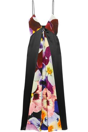 CHRISTOPHER KANE Printed silk midi dress