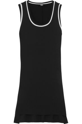 KARL LAGERFELD Silk crepe de chine top