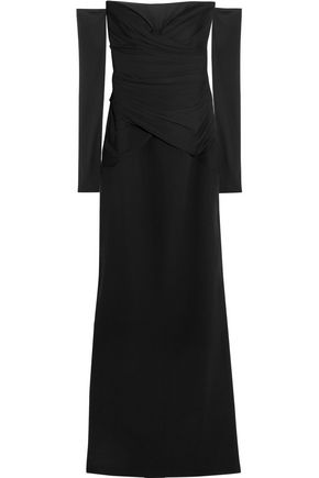 VERSACE Off-the-shoulder silk gown
