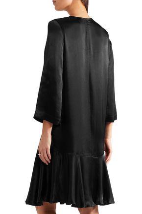 GANNI Sanders fluted satin dress