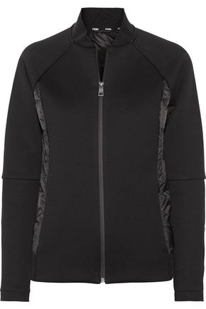 FENDI Quilted satin-paneled cotton-blend jacket