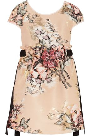 FENDI Floral-jacqaurd mini dress