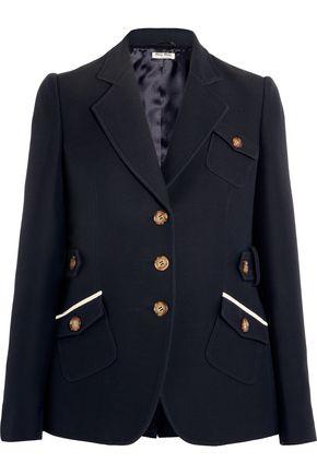 MIU MIU Wool and silk-blend blazer