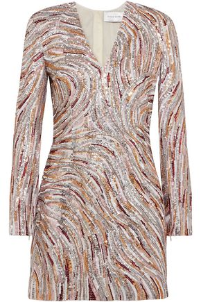 ZUHAIR MURAD Sequined crepe de chine mini dress