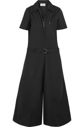 MAISON MARGIELA Belted cotton-poplin wide-leg jumpsuit