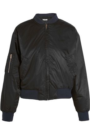 GANNI Satin bomber jacket
