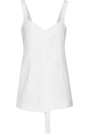 CALVIN KLEIN COLLECTION Draped cotton-canvas top