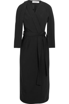 CHALAYAN Crepe wrap dress