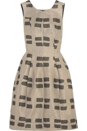 VIVIENNE WESTWOOD ANGLOMANIA Pleated jacquard dress