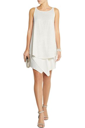 Jay Ahr Studded Asymmetric Mini Dress