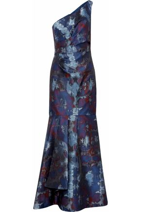 MIKAEL AGHAL One-shoulder brocade gown
