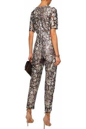 MIKAEL AGHAL Sequined tulle jumpsuit