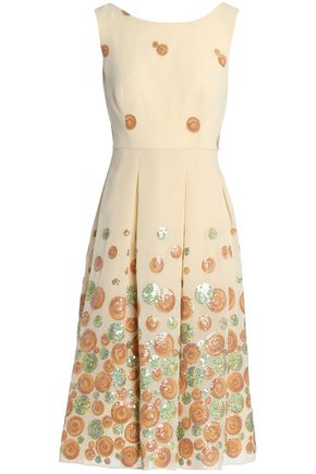 MIKAEL AGHAL Beleted embellished textured dress