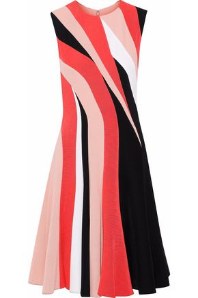 MIKAEL AGHAL Color-block cady dress