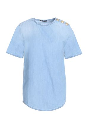 BALMAIN Cotton-chambray top