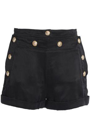 BALMAIN Button-detailed twill shorts