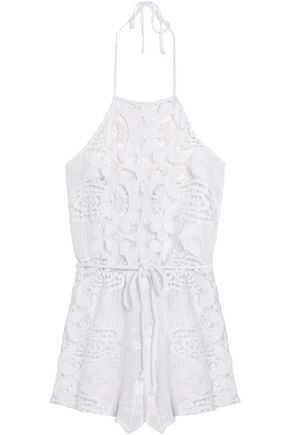 MIGUELINA Cotton guipure lace coverup