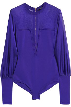 BALMAIN Stretch-ponte bodysuit