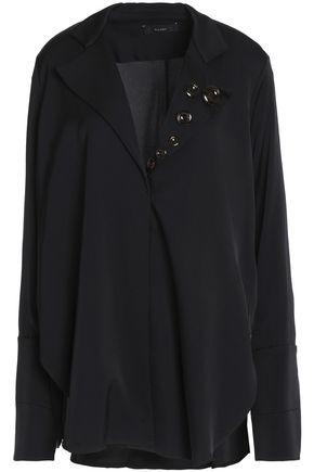 ELLERY Button-embellished silk-blend shirt